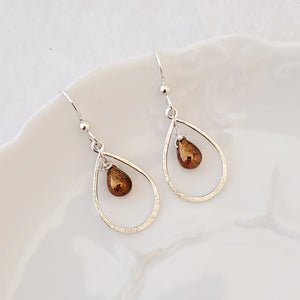 Sweet Drops in Copper Lustre - Earrings