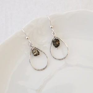 Sweet Drops in Pyrite - Earrings