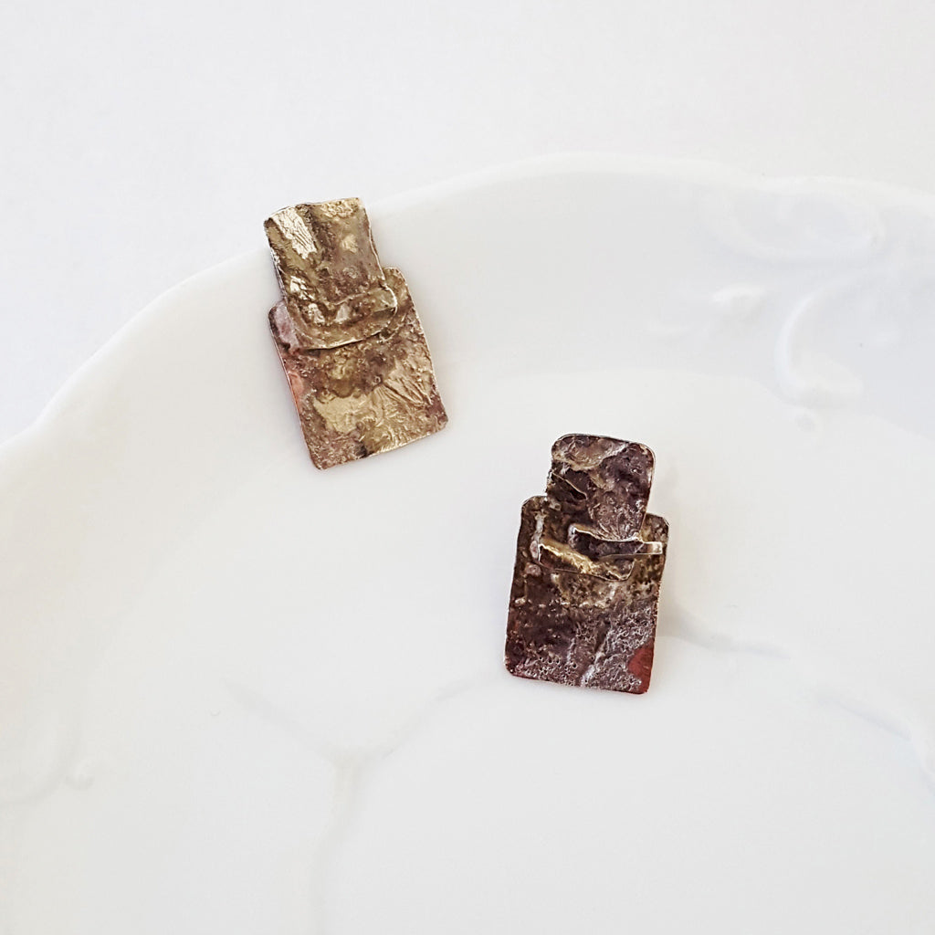 Urban Decay Rectangle Posts - Earrings