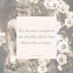 We become caught in an identity that is less than who we are