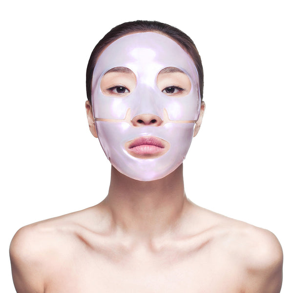 Diamond Radiance Collagen Face Mask on woman's face