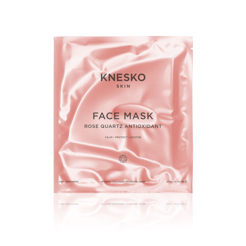 Knesko Skin Rose Quartz Antioxidant Collagen Face Masks