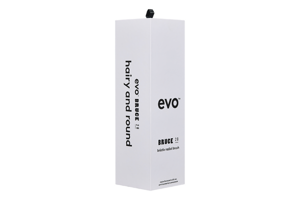 Evo Hair Bruce 28 Bristle Radial Brush Packaging