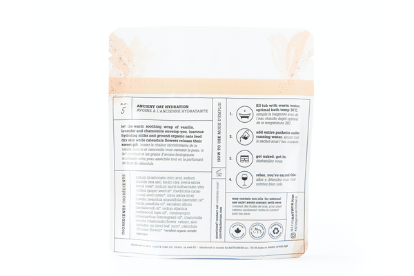 Ancient Oat Hydration CRUSH Bath Soak - One Bath (120g)