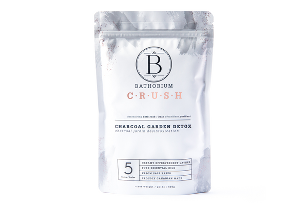 Bathorium Charcoal Garden Detox CRUSH Bath Soak
