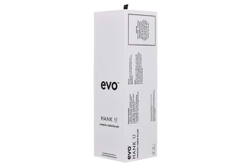 Evo Hair Hank 52 Ceramic Radial Brush packaging