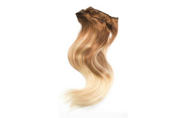 Butterscotch Blonde Ballayage 8/613 Clip in Extensions