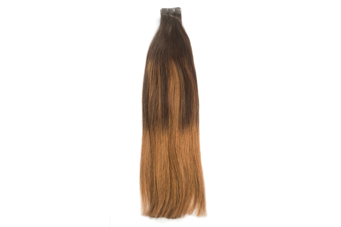 Chestnut Chocolate Ballayage 2/8 Tape Extensions 20""