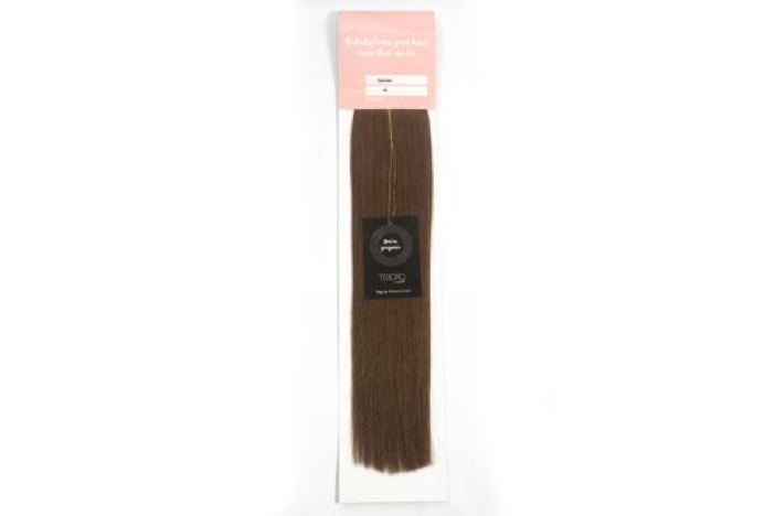 4 Chocolate Brown Tape Extensions 16""