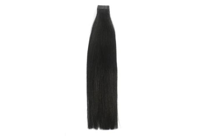 Jet Black Tape Extensions