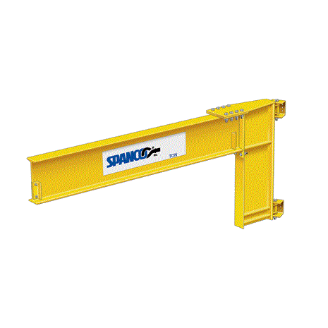 CUSTOM - 4 Ton Spanco 300 Series Wall-Mounted Jib Crane- Cantilever