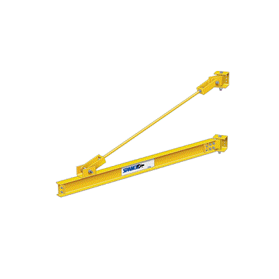 CUSTOM - 1 Ton Spanco 301 Series Wall-Mounted Jib Crane- Tie Rod Design