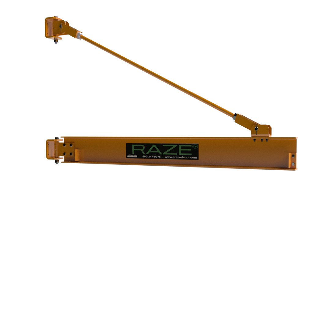 CUSTOM - 2 Ton RAZE Wall-Mounted Tie Rod Style Jib Crane