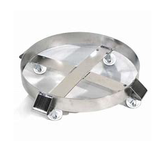 Round Drum Dolly - Stainless Steel