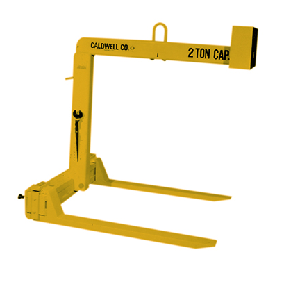 1 Ton Caldwell Standard Adjustable Fork Pallet Lifter