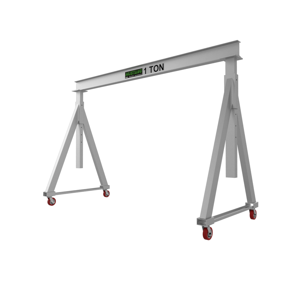 CUSTOM - 1 Ton Mustang Adjustable Aluminum Gantry Crane