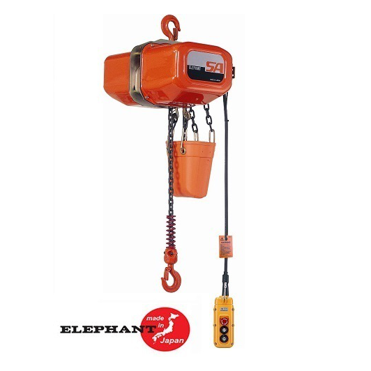Electric Chain Hoist - 5 Ton Elephant SA Series 2 FPM 115v Single Phase
