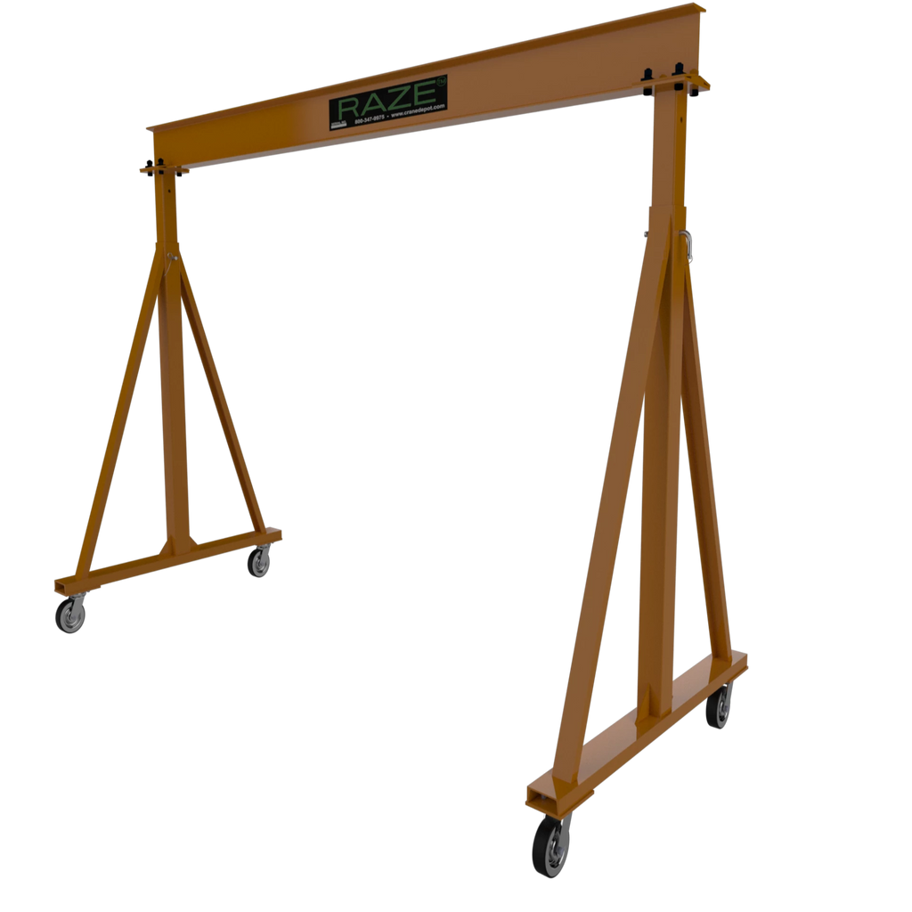 CUSTOM - 2 Ton RAZE Adjustable Height Gantry Crane