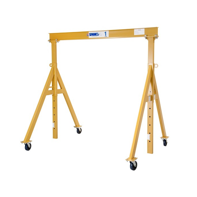 CUSTOM - 1 Ton Spanco A Series Steel Adjustable Height Gantry Crane