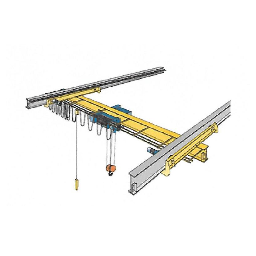 2 Ton Advantage Single Girder Under Running Push Bridge Crane