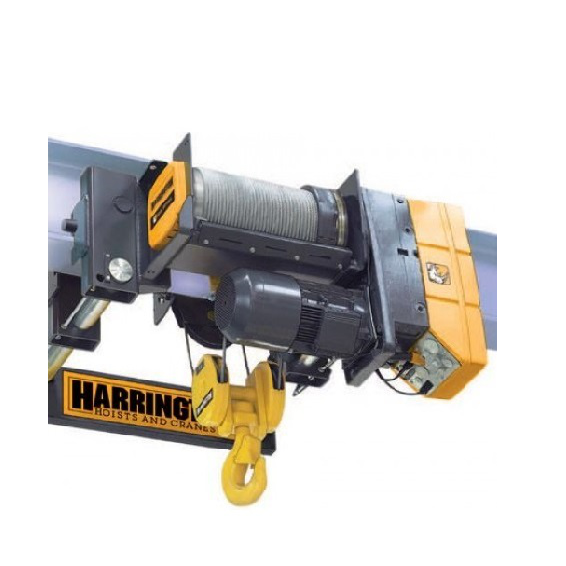 10 Ton Harrington RHN Series Ultra-Low Headroom Dual Speed Trolley Hoist 20/3.5 FPM 230/460V Three Phase