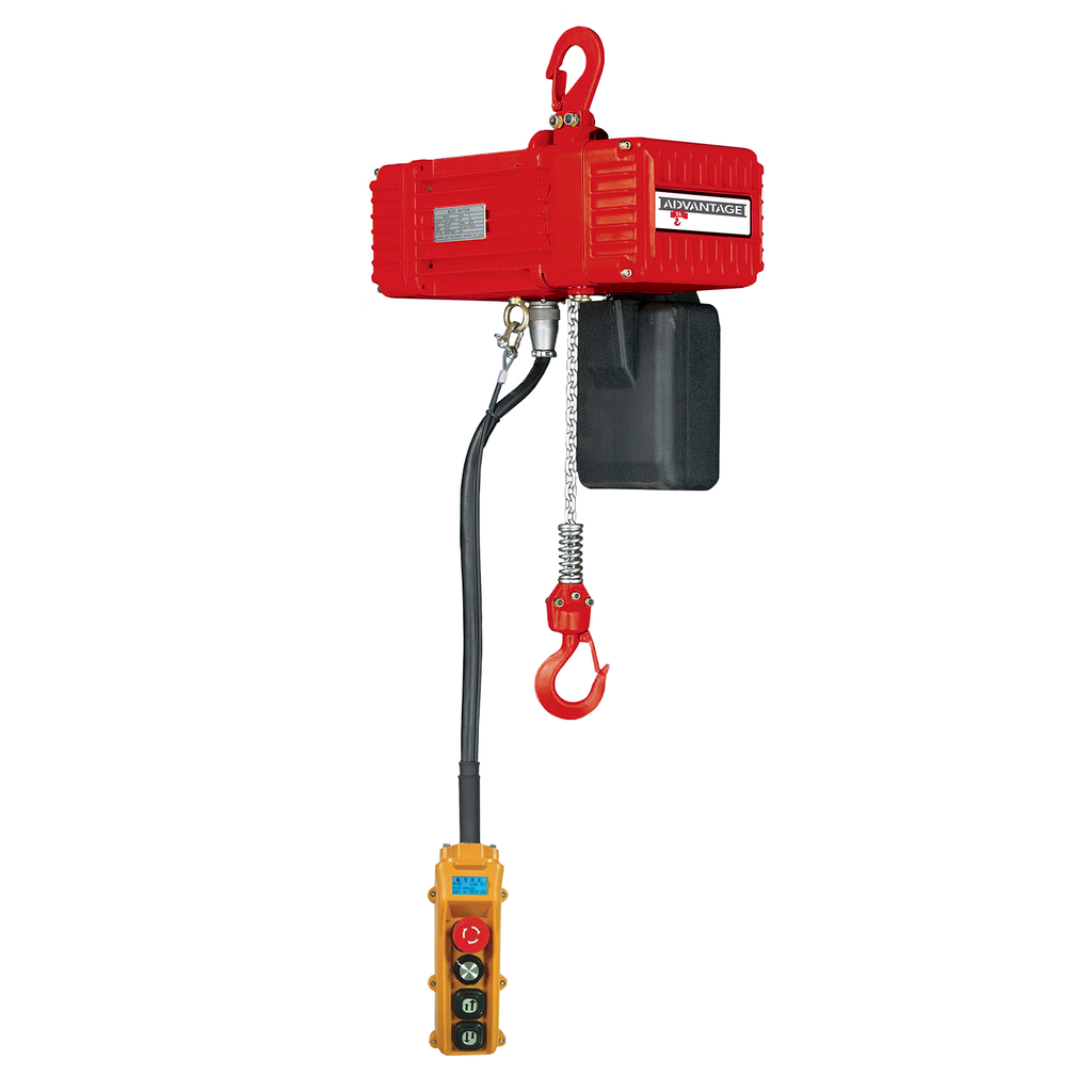 Electric Chain Hoist - 1/4 Ton Advantage Portable Series 41 FPM Two Speed 110v Single Phase