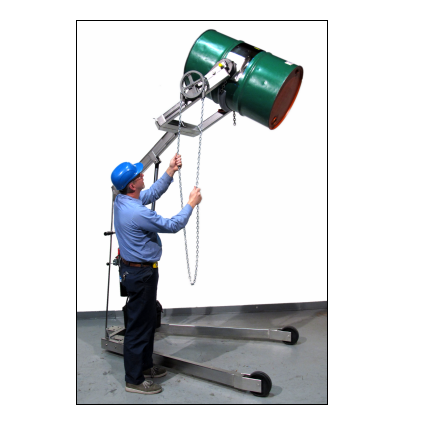 Hydraulic-Lift Drum Karriers - Chain Wheel - Explosion Proof  - Stainless Steel - 96""