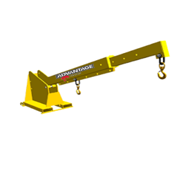 TLJP-Series Telescoping Pivoting jib Lift Fork Attachment