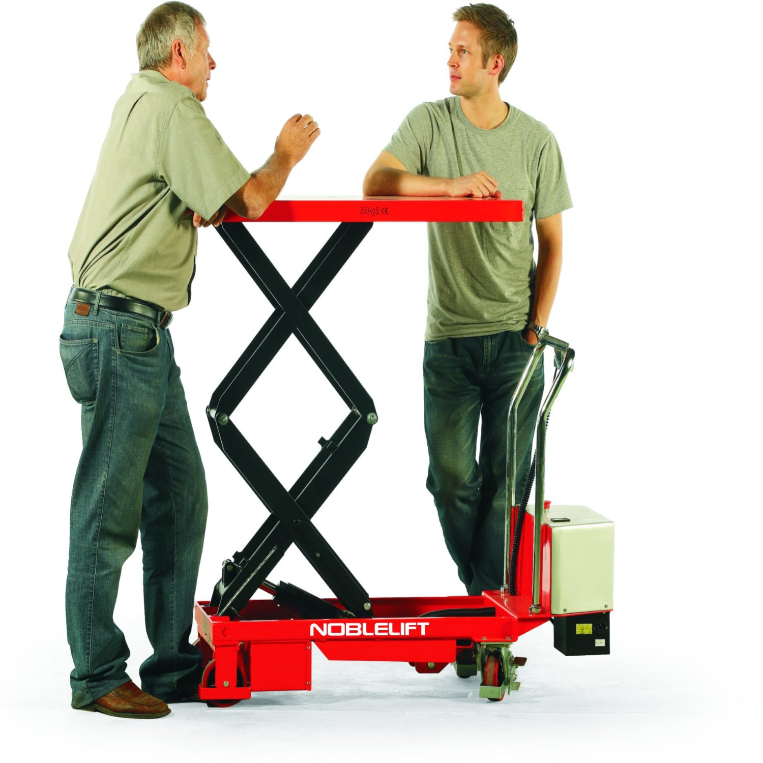 Battery Operated Double Scissor Lift Tables