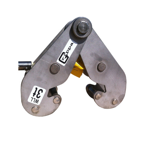 "3 Ton Stainless Steel Elephant Grippa Series Girder Clamp 4.7"" to 16.9"" Flange Range"