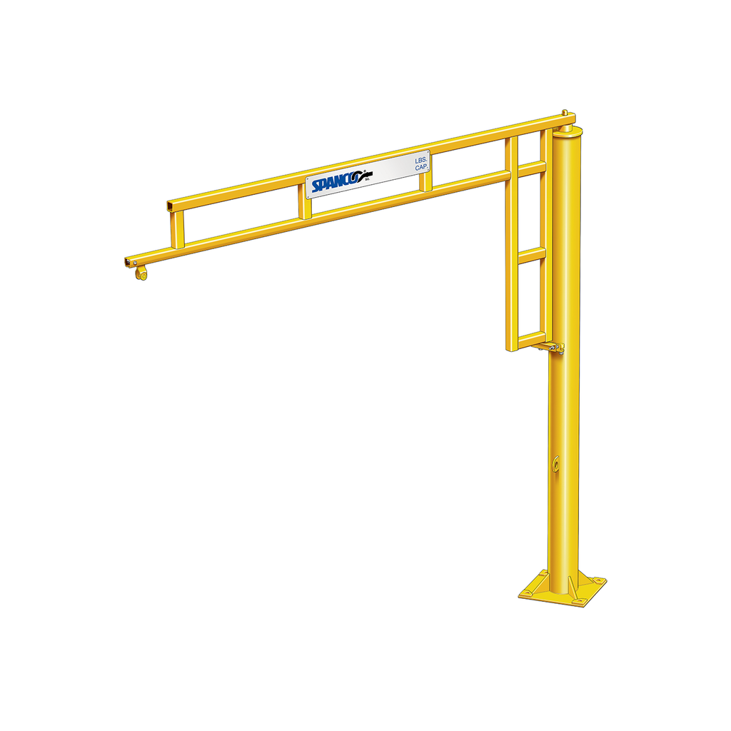 1/4 Ton Spanco 500 Series Freestanding WorkStation Jib Crane