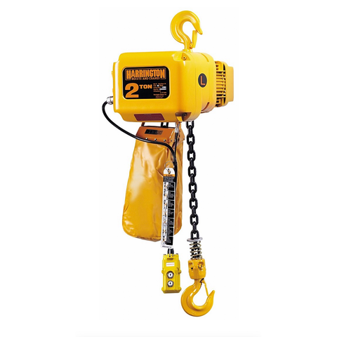 2 Ton Harrington Electric Chain Hoist - NER Series 7 FPM 230/460v Three Phase