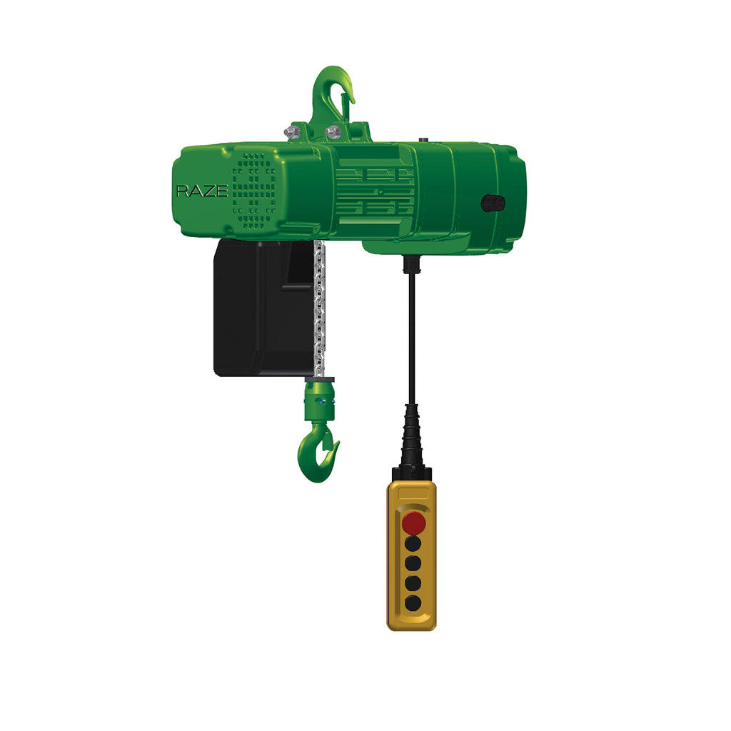 Electric Chain Hoist - 1/8 TON RAZE SERIES 20FPM SINGLE SPEED 230/460V THREE PHASE
