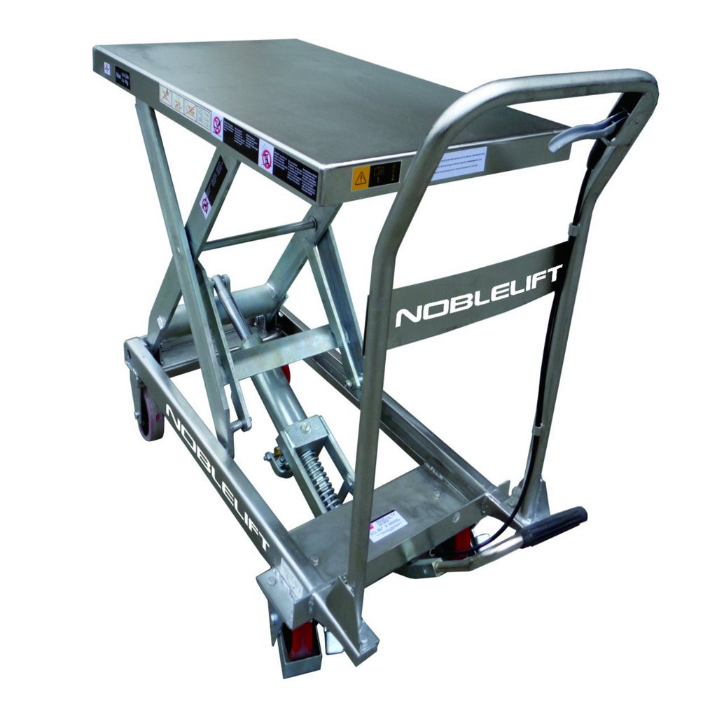 Manual Double Stainless Steel Scissor Lift Table
