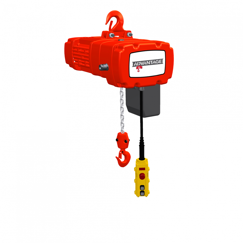 Electric Chain Hoist - 2 Ton Advantage XL Series 31/7 FPM Two Speed 230/460v Three Phase