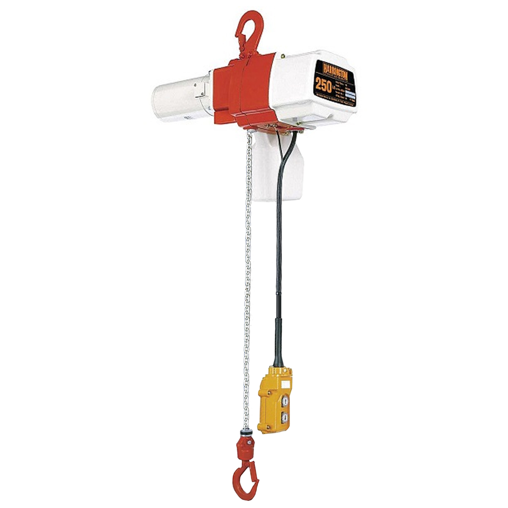 CUSTOM - 1/4 Ton Harrington Electric Chain Hoist - ED Series Adjustable Single Speed Single Phase