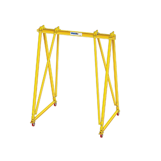2 Ton Spanco T Series Three-Way Adjustable Aluminum I-Beam With Steel Legs Gantry Crane
