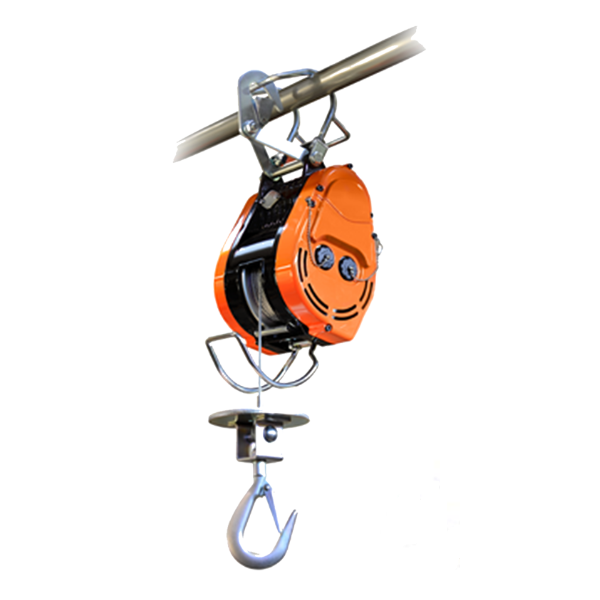 230 lbs. Wire Rope Bail Mount Hoist  74 FPM, 1 HP
