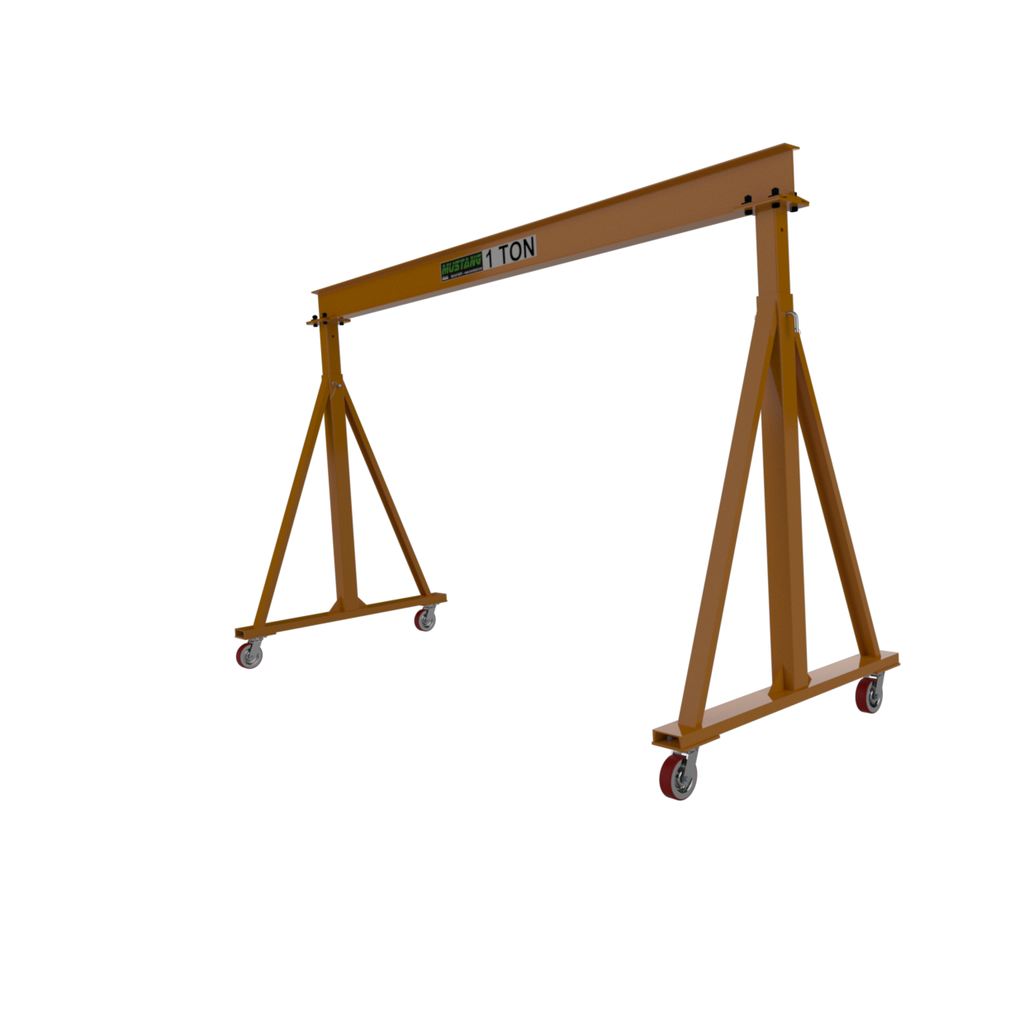 CUSTOM - 1 Ton Mustang Adjustable Height Gantry Crane
