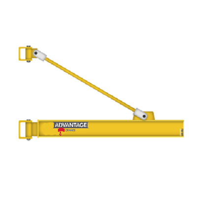 CUSTOM - 1 Ton Overbraced Tie Rod Wall Mounted Jib Crane