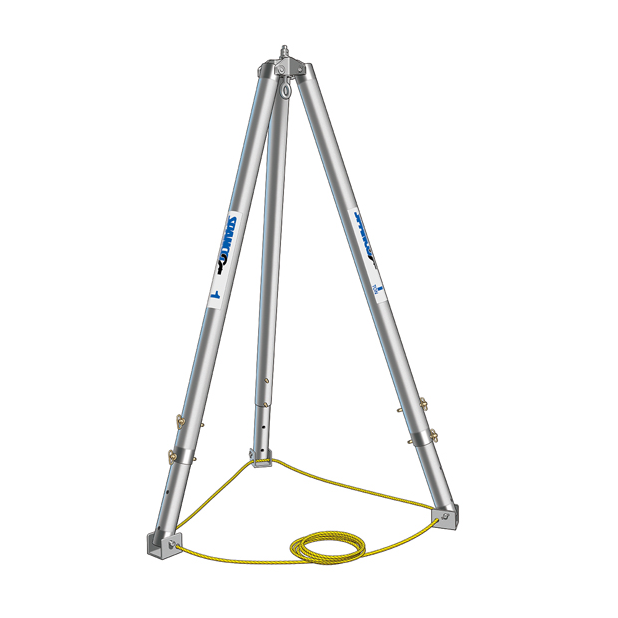 Medium 1 Ton Spanco Aluminum Adjustable Tripod Crane
