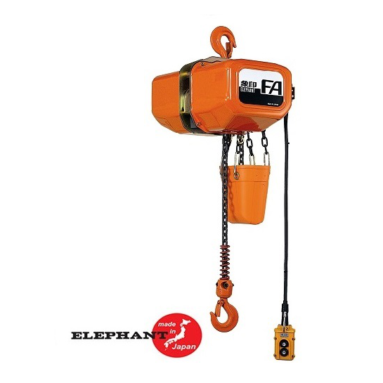 Electric Chain Hoist - 5 Ton Elephant FA/FB Series 4.8 FPM 230/460v Three Phase