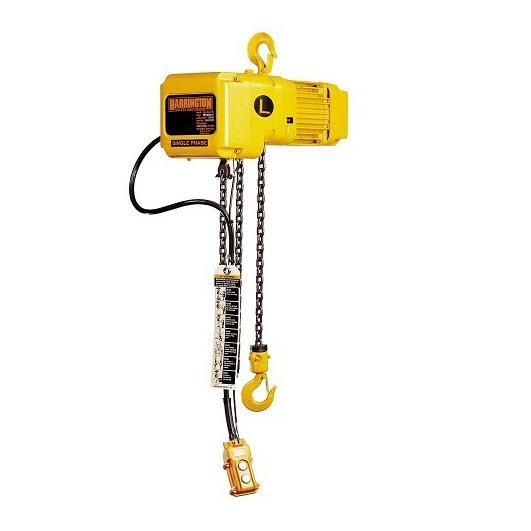 CUSTOM - 1 Ton Harrington Electric Chain Hoist - SNER Series 7 FPM 115/230v Single Phase
