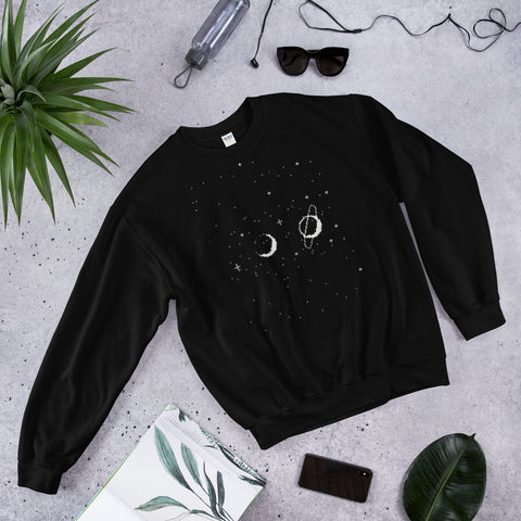 Stars in Space Black Sweatshirt (宇宙)