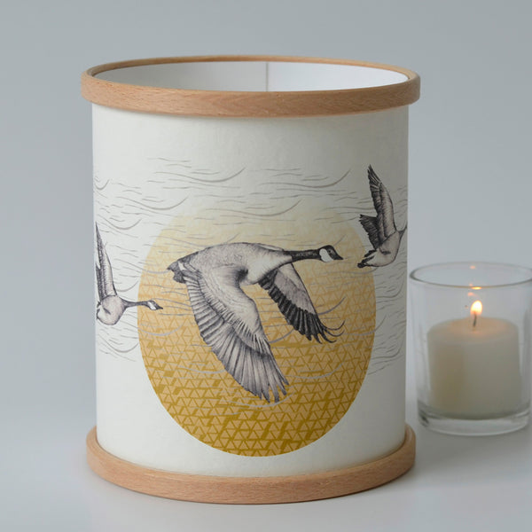 Canada Geese Candle Cover