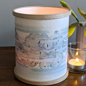 Clouds and Birds Candle Cover