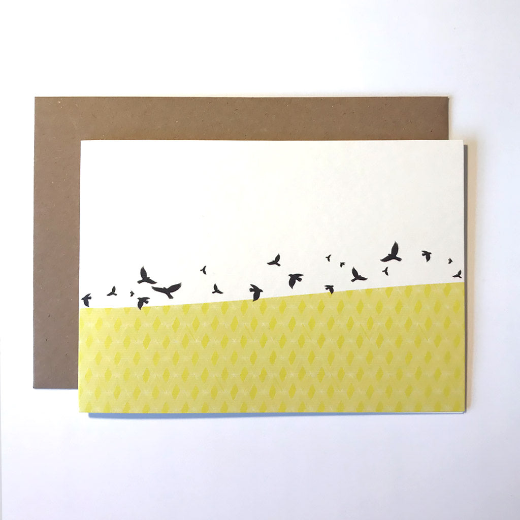 Free Flying Greetings Card