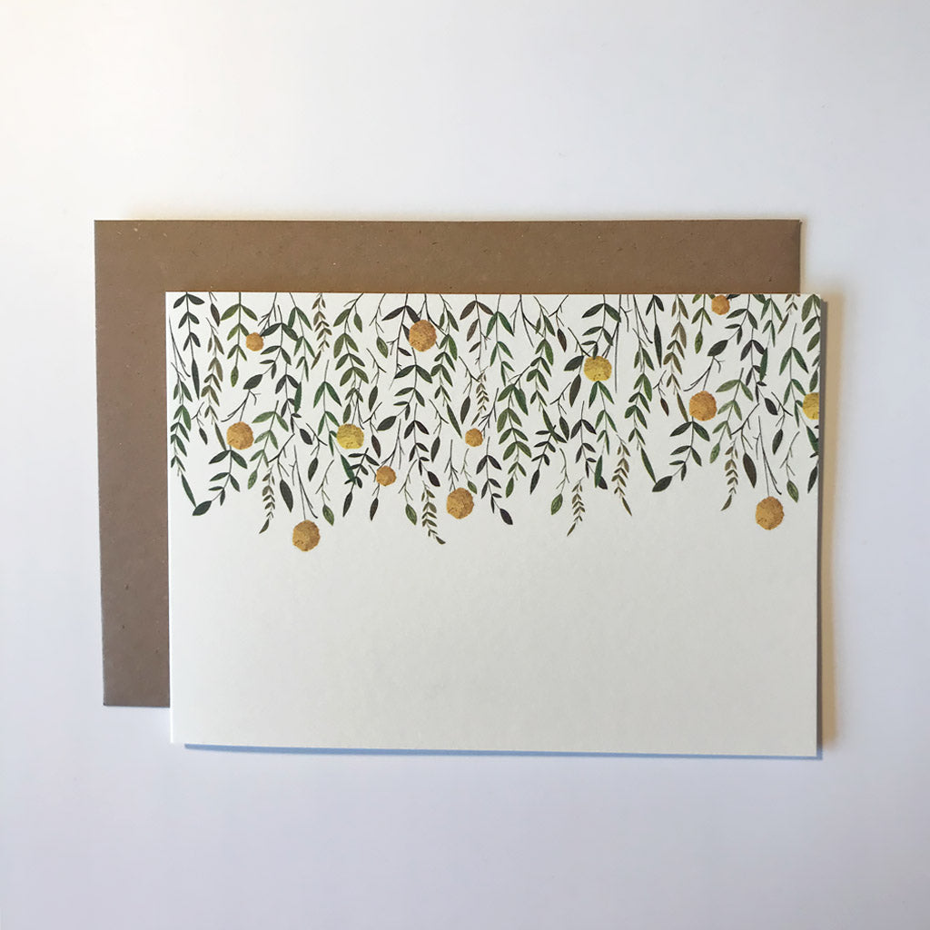 Leaves Greetings Card