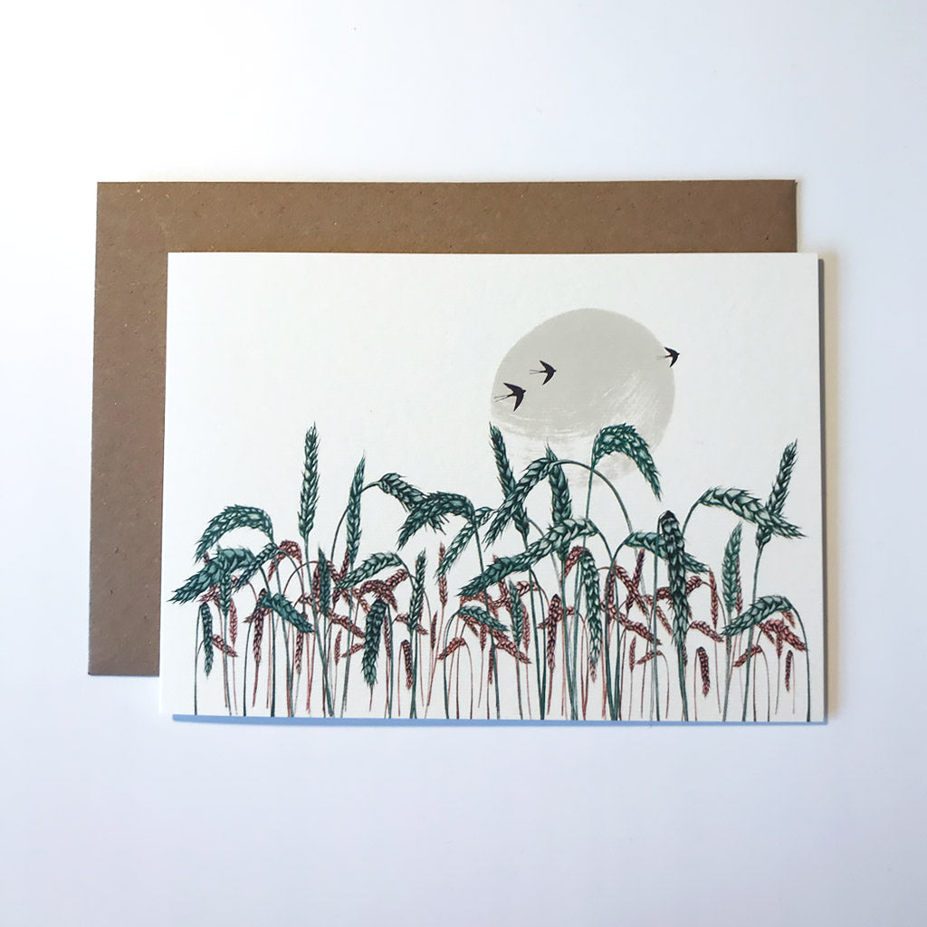 Wheatfield Greetings Card