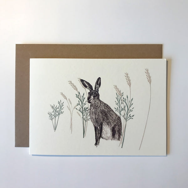 Wild Hare Greetings Card